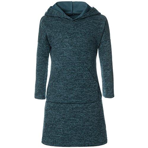 BEZLIT Mädchen Pullover Kleid Long Tunika Langarm Kapuze 21579 Grün Größe 164