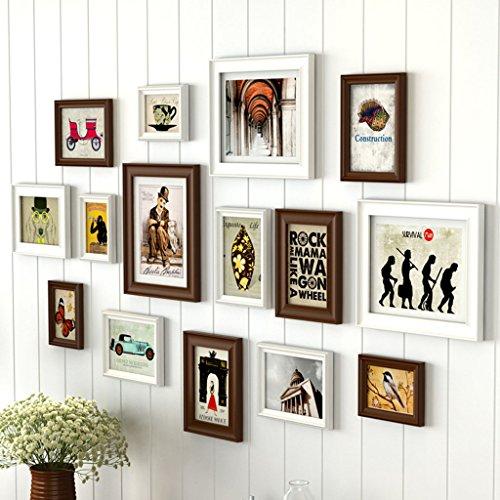Cadre décoratif Ensembles de cadre photo pour mur, cadre de mur de photo de salon mur créatif photo cadre photo combinaison 13 Pcs / ensembles Collage cadre photo ensemble, cadres photo Vintage ( Couleur : A , taille : 13frames/148*80CM )