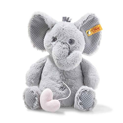 Steiff 241765 Ellie Elefant Spieluhr 26 grau