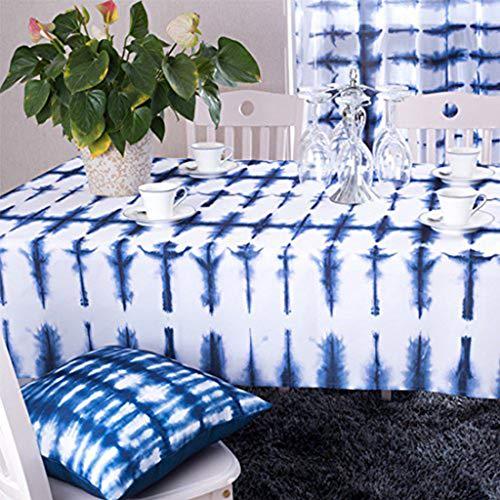 GWELL Tischdecke Eckig Abwaschbar Oxford Tischtuch Pflegeleicht Schmutzabweisend Farbe & Größe wählbar Muster-F 140 * 240cm