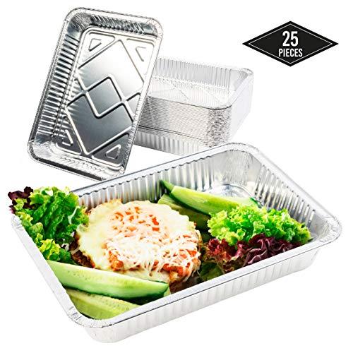 MATANA 25 grote wegwerp aluminium folie bakken, 32 x 21cm| Perfect voor het bakken van roosteren koken - Heavy Duty, Oven Safe & Waterproof.
