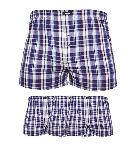 4-6-8-10er Herren Boxershorts Webboxer Unterwäsche Unterhose American Style Baumwolle (L 10er Pack)