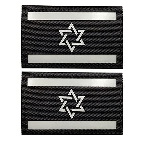 Israel-Flagge, leuchtet im Dunkeln, Militär, taktische Nacht, reflektierend, Moral, Schulter-Abzeichen, Emblem, Applikation, Schlaufenhaken, Flicken für Kleidung, Rucksack, Zubehör, Armband