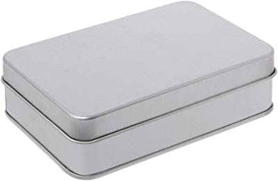 Container Tin Empty Case Mini Storage Box Organizer Money Coin Case Metal