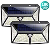 Solar Lights Outdoor 180 LED,Yacikos 2000LM Super Bright Security Lights 270°Wide Angle Motion…