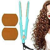 Plancha de Pelo,Plancha de pelo profesional 2 en 1 alisa y ondula ajustes de temperatura de 80º a 160ºC función iónica Plancha de pelo profesional, tecnología cerámica