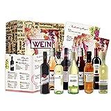 Wein Geschenk Set (9 x 0,25l) | besonderes Weingeschenk Box ausgefallene Geschenkidee für Frauen Männer Freund Freundin für Weihnachten Geburtstag