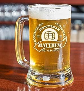 PersonalizedBeer Glass - Custom Beer Mug, Pint Glass, Pilsner Glass | Add your own Engraved Text (Beer Mug 16oz)