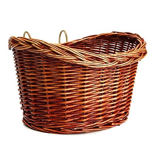 TEET Cesta de mimbre para bicicleta, cesta de mimbre para mascotas, para ir de compras, acampar y al aire libre