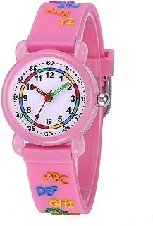 NICERIO Relógio Infantil de Quartzo – Relógio Esportivo com Estampa 3D à Prova d 'água com Pulseira de Silicone para Crian...