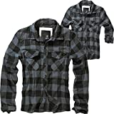 Brandit Check Shirt Herren Baumwoll Hemd 5XL Black-grey