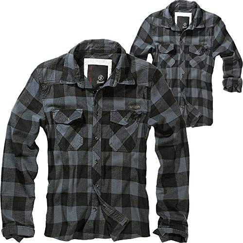 Brandit Check Shirt Herren Baumwoll Hemd 3XL Black-grey