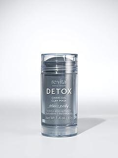 re:vital DETOX, Charcoal Clay Mask Facial Stick, Detox & Purify - 1.4 oz 40 g