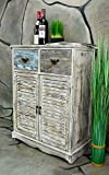Livitat® Kommode Schrank mit Schubladen Landhaus Shabby Chic Vintage LV1007