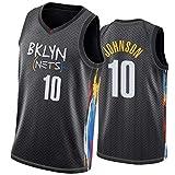 PPPU Nets #8 Green #10 Johnson #12 Harris #26 Dinwiddie Basketball Jersey City Edition Hombres 2021 Nuevo, sin mangas, ropa deportiva chaleco de baloncesto Uniformes V-cuello camiseta #10 Johnson-XL