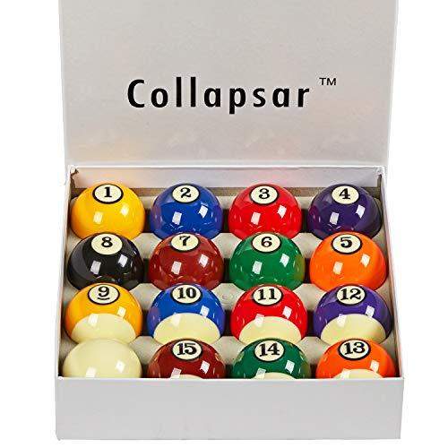 "16 x 8 Eight Black Pool Snooker Billiard Balls 2/"" inch BOX Bulk Buy pubs clubs"