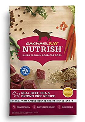 Rachael Ray Nutrish Premium Natural Dry Dog Food, Real Beef, Pea, & Brown Rice Recipe, 6 Pounds