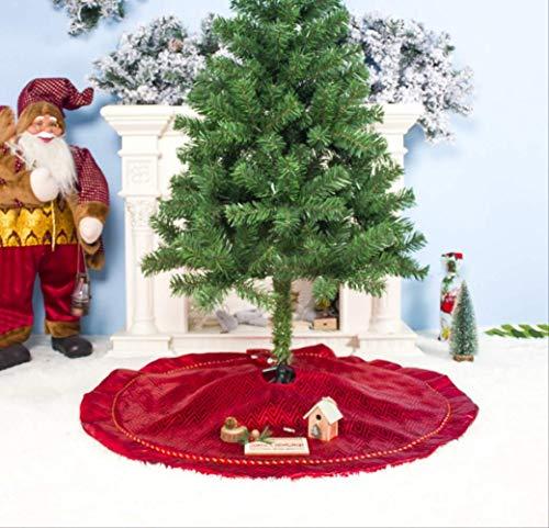 tytltree kerstboom rok, rode geruite patroon boom jurk, scene lay-out benodigdheden, vrolijk kerstdecoratie gereedschap, voor huis, winkelcentra, hotels, 100 cm