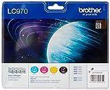 Brother Tintenpatronen Value Pack (Viererpack, Farbe: cyan / gelb / magenta / schwarz) für Lc970