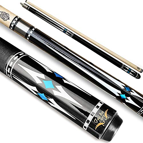 "Tai ba cues Pool cue Stick,Linen Wrap Pool Stick cue, 13mm Leather Tip, 58"", Hardwood Canadian Maple Professional Billiard 19, 20, 21 Oz (Selectable) 2-Piece Pool Cue Stick"