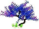 ZT TRADE Hierba de Agua Artificial Peces Tortuga Tanque Acuario plástico Planta Decoración Purple+Green