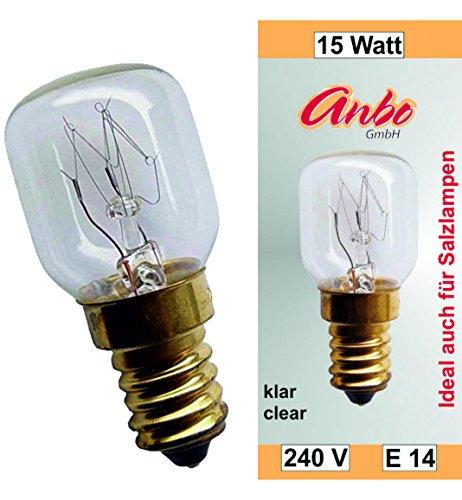 10 Stück Glühbirne E14-15 Watt Spezial-Leuchtmittel für Salzlampe und Kühlschrank U2282