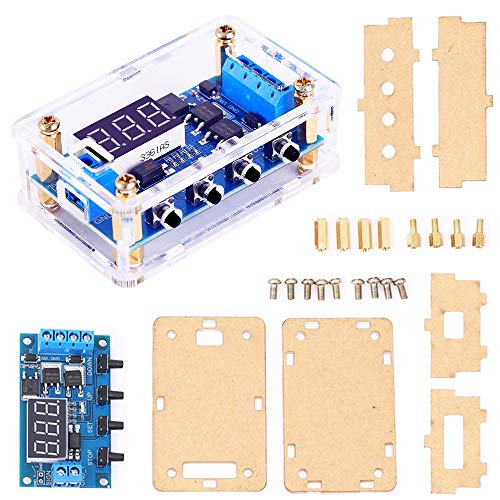 Timer Delay,DC 5V 12V 24V 36V Cycle Delay High Level Trigger Module Programmable Digital Switch Board Dual MOS Pulser with Optocoupler Isolation