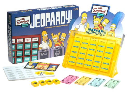 Simpsons Edition Jeopardy! Board Game