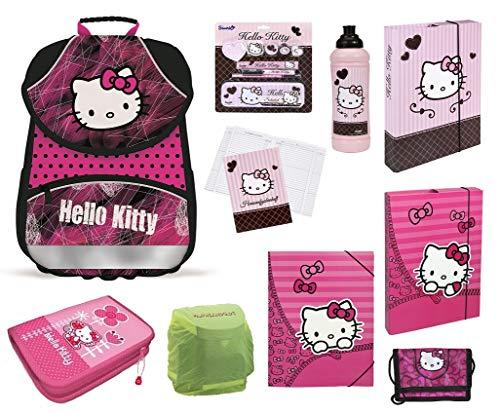 Familando Hello Kitty PL Schulranzen Set Schulrucksack Ranzen mit Federmappe und Zubehör