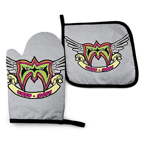 FGHJY Ultimate Warrior RIP Logo Homenaje - Mitones de horno y agarraderas...
