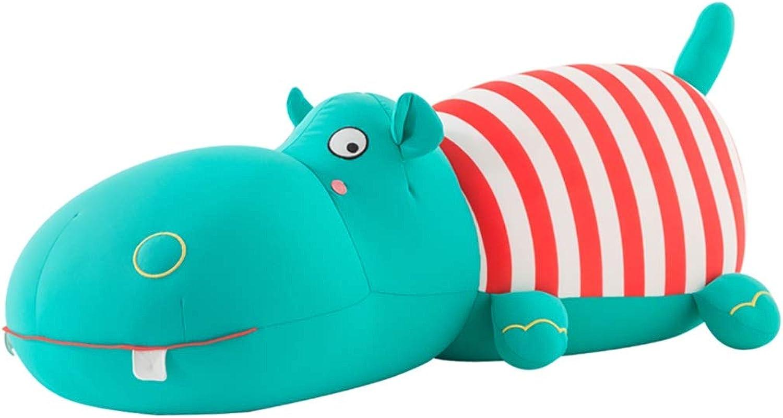 Unbekannt Stoffspielzeug Plüschtier Nilpferd Puppe Faules Bett Kissen Groes Schlafkissen Cartoon Puppe Geschenk Für Mdchen (Farbe   Grün, Größe   56  25  24)