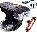 Actionale Mountain Flashlight Waterproof IPX-5, Rechargeable Bike Lights Front and Back, Tail Light