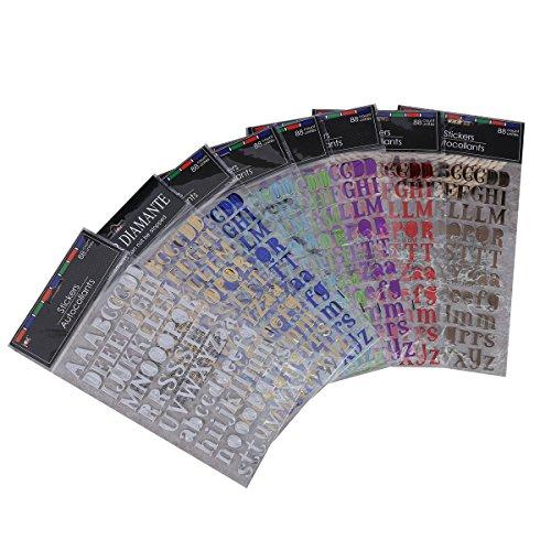 TOYMYTOY 8pcs Stickers Lettres Alphabet auto-adhésifs Autocollant Lettre pour enfant