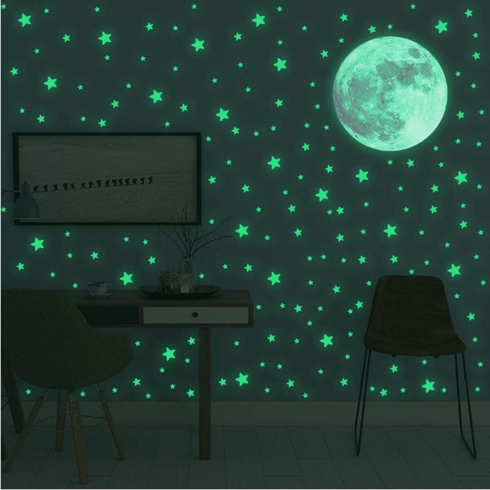 Lodykeyd Luminous Moon 35% OFF Stars Wall for Bedroom Award Stickers Kids Room