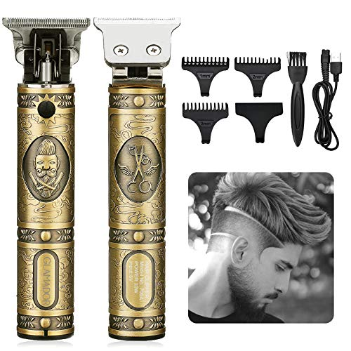 Cortapelos Hombre Profesional Eléctrica- GLAMADOR Recortadora de Barba Profesional para Hombres- Maquina Cortar pelo Inalámbrica USB Recargable, 3 Peines Limitados Profesionales