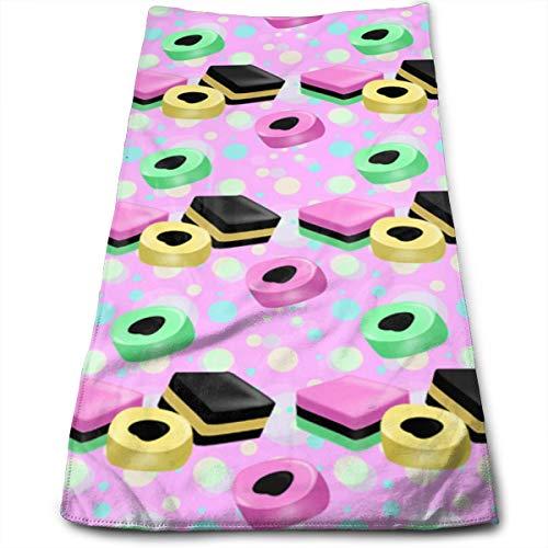 Sula-Lit Lakritz Allsorts rosa Badetuch Handtuch Mikrofaser Handtuch für Strand, Reisen, Schwimmen, Pool, Camping, Outdoor und Sport, 30 x 70 cm