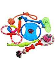 Dog Rope Toys 10 Pack Pet Toy Set Pet Puppy Teething Chew Rope Tug Assortment for Small Medium Large Dogs Breeds