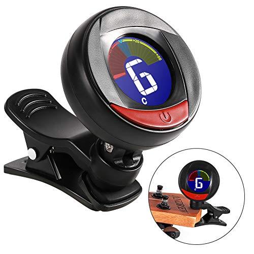 Stimmgerät, ZOTO Clip-on Multifunktional Stimmgerät mit LCD Display, Tragbare Größe Stimmgerät für Gitarre, Ukulele, Bass, Geige Chromatisches