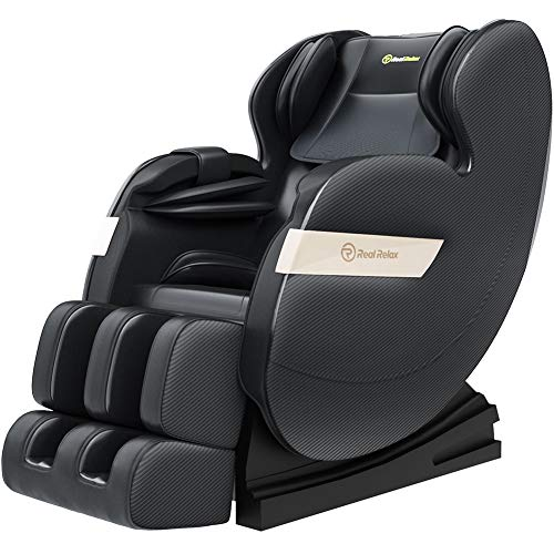 Cheapest Price! Real Relax 2020 Massage Chair, Full Body Zero Gravity Shiatsu Recliner with Bluetoot...
