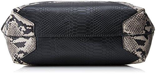 Desigual Bols_snake Color Patch Capri - Borse a spalla Donna, Schwarz (Negro), 28x13x30 cm (B x H T)