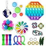 Children DIY Decompression Toy Set, Sensory Fidget Toys Set, Early Educational Press Type Stress Relief Toys Kit, Therapy Toys for ADHD Stress Anxiety, Gifts for Kids&Adults with Autism (21 PcsA)