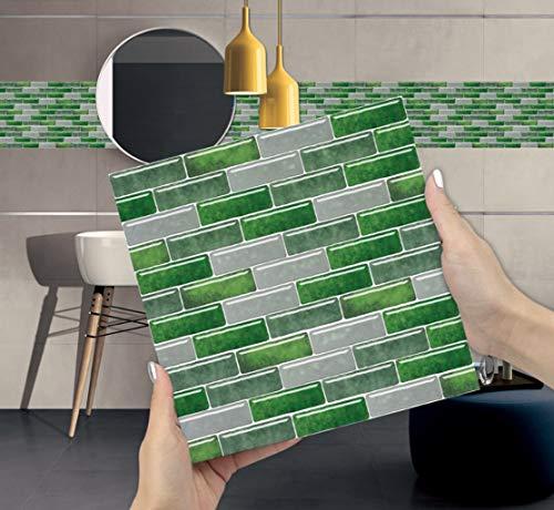 Orumrud Pegatinas de Azulejos Peel and Stick para la Cocina Baño de la Pared Backsplash, Autoadhesivo Scandinavian Style Premium Wall Azuleña Decoración para el hogar