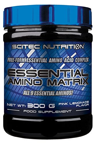 Scitec Nutrition Essential Amino Matrix Free-Form Amino Acid Complex Powder - 300g, Pink Lemonade