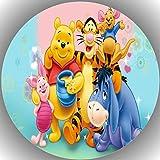 Premium Esspapier Tortenaufleger Geburtstag Winnie Pooh T21