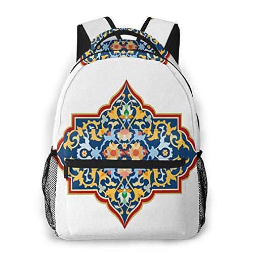 Rucksack Männer Und Damen, Laptop Rucksäcke für 14 Zoll Notebook, Oriental 12 Kinderrucksack Schulrucksack Daypack für Herren Frauen