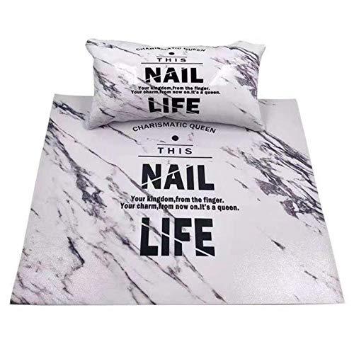 Heng mode nail art handsteun kussen zachte sponslederen kussenhouder armleuningen mat pad nagels manicure salon gereedschap, legergroen