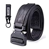 MOZETO Tactical Belt Velco, 1.5' Military Style EDC Gun Belts for Men Concealed Carry, Nylon Rigger Web Men's Belt with Heavy-Duty Quick-Release Buckle