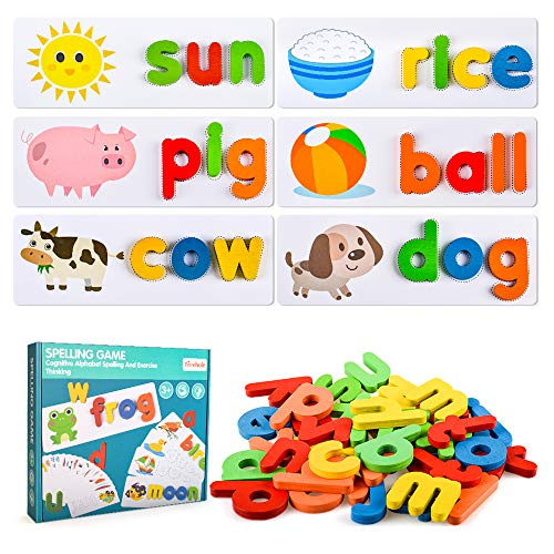 Toddlers Preschool Learning Toys for Girls Boys Age 2 3 4, Kid Alphabet...