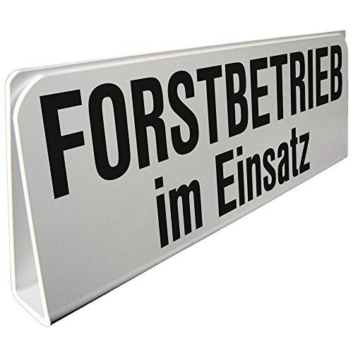 Klemmschild fuer Sonnenblende Auto - Forstbetrieb im Einsatz - 309509 Gr. ca. 29,5cm x 10cm x 2,5cm