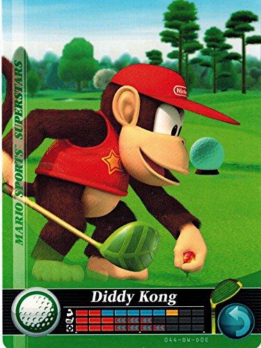 Nintendo Mario Sports Super Stars Amiibo Card Diddy Kong Golf 044/090 USA Version